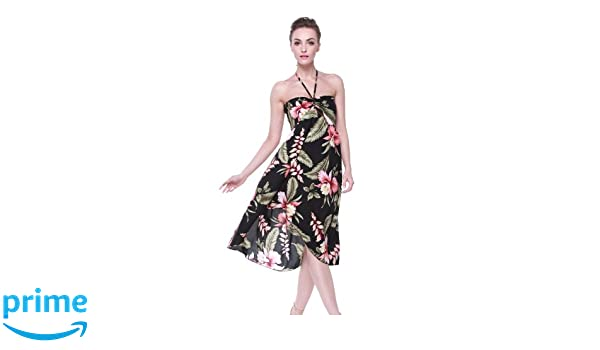 Tropical Group Womens Hawaiian Butterfly Dress (XXXL, Black Rafelsia) at Amazon Womens Clothing store: