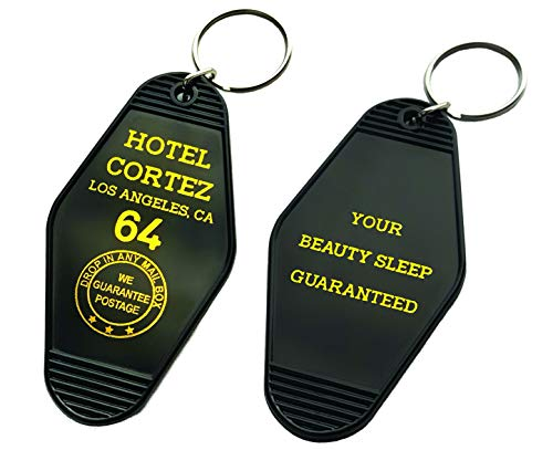 Vintage Hotel Motel Keychain (Black Hotel Cortez) ()
