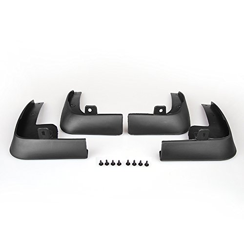 All Four Wheel's Splash Guard Mud Flaps for 2007 thru 2010 Nissan Versa Tiida Latio Hatchback & Sedan 2008 2009 07 08 09 10