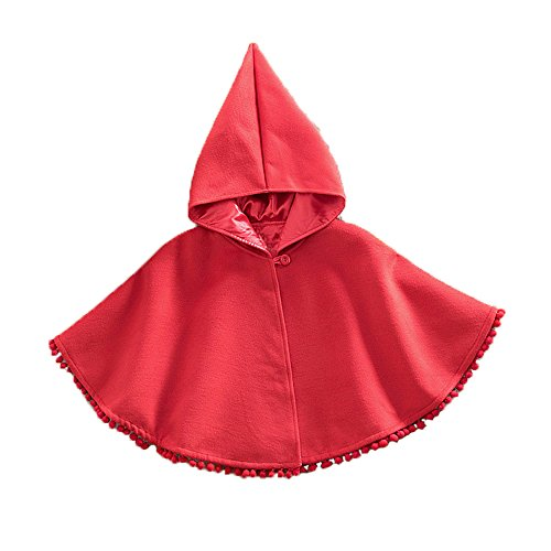 Red Riding Hood Baby Costumes (Himine Costume Outerwear Hooded Cloak for Baby and Little Girls (M))