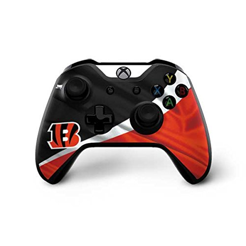 Skinit Cincinnati Bengals Xbox One X Controller Skin - Officially Licensed NFL Gaming Decal - Ultra Thin, Lightweight Vinyl Decal Protection ()