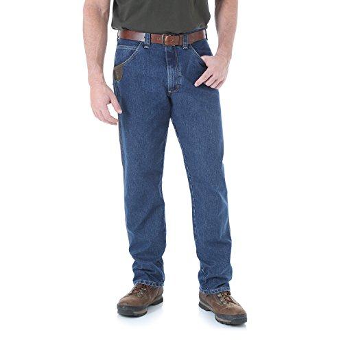 (Wrangler Men's Riggs Workwear Cool Vantage Five Pocket Jean, Dark Stone, 38x32)