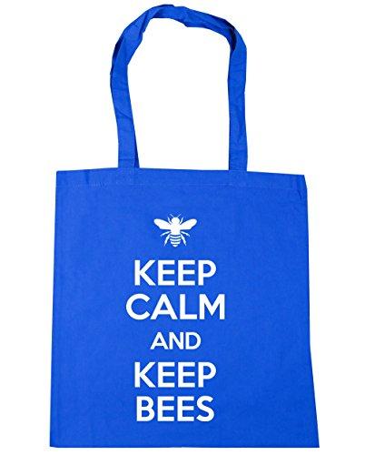 and Beekeeping 10 Shopping Calm x38cm Bees Keep Blue Keep Beach Tote HippoWarehouse Bag Cornflower litres Gym 42cm qwEnpRXO5