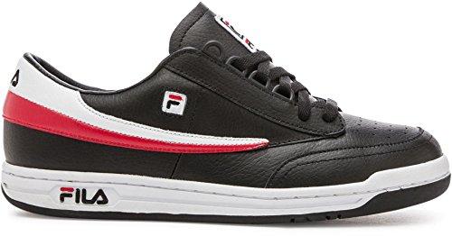 Fila Mens Sneaker Tennis Classico Originale Nero, Bianco, Rosso Fila