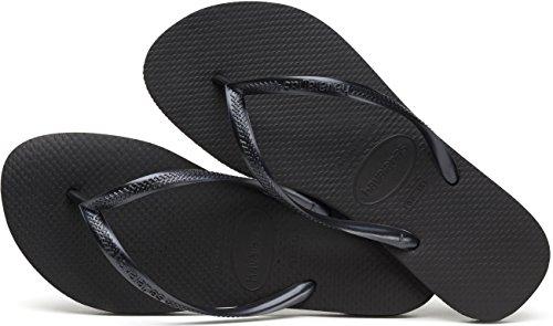 Havaianas Ende Flip Flops String–verschiedenen Farben Schwarz (Black 0090)
