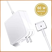 Adapter Charger,Replacement 60W T-Tip Magsafe 2 AC Power Adapter Charger Compatible with M-Book Pro Air 13-inch Retina Display After 2012