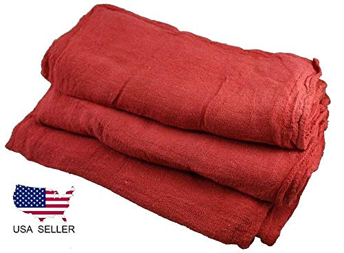 Large red 14x14 Industrial Shop Rags/Cleaning Towels 25pack by E_GGW (Image #3)