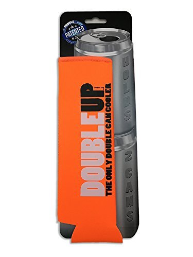 DoubleUp, Double Can Cooler (Orange) - The Can Cooler That Holds Two...
