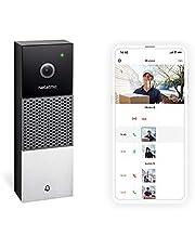 Netatmo Intelligente video-deurbel, HD 1080p, bidirectionele communicatie, personenherkenning, geen extra kosten, nachtzicht, buitenbel waterdicht, NDB-IB