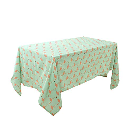 """uxcell Water/Oil Stain Resistant Cotton Blends Rectangular Tablecloth 55"""" x 87"""" for Wedding/Restaurant/Parties Decoration, Orange Bird Print from uxcell"""