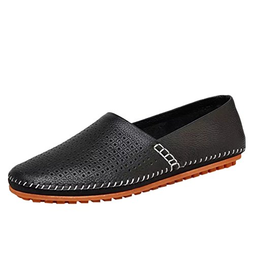 Loafer Zapatos Zapatos Hombre Moda Mocasines Negro1 Negocio Dooxi Diario Casual Planos g061gB