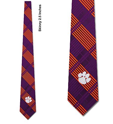 Clemson University Tigers Tie Skinny Woven Polyester Necktie