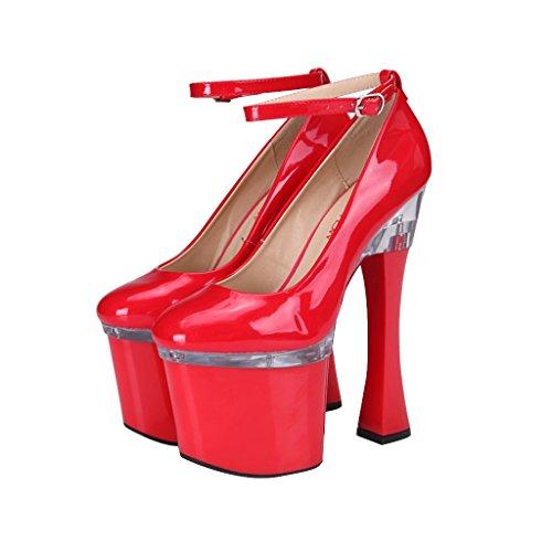 sexy Damenschuhe 35 Heels Farbe Shoes Schuhe Super Rot 20cm Mode größe long225mm ALUK High Fußriemen qTnFq5