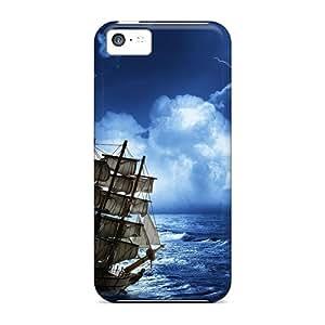 New Arrival MzjFtFG852gvYrZ Premium Iphone 5c Case(stormy Seas)