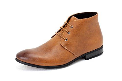 Caballeros Informal Botines Encaje Vestido Formal Zapatos piel sintética Retro Tamaño RU Marrón