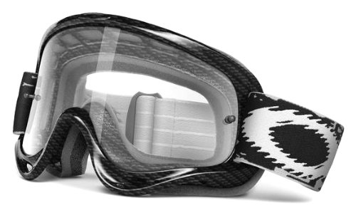 Oakley XS O-Frame Graphic Frame MX Goggles (True Carbon Fiber Frame/Clear Lens, One - Youth Oakleys