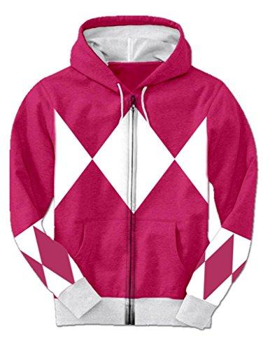 Pink Power Rangers Hooded Costume Sweatshirt (Adult XXX-L...