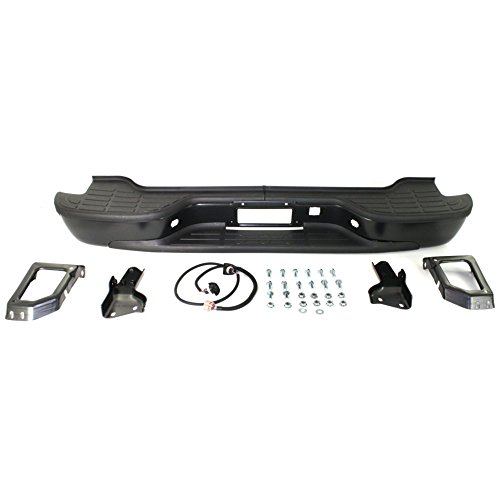 Rear Step Bumper for GMC Suburban/Yukon 2000-2006 Assembly Powdercoated Black Steel