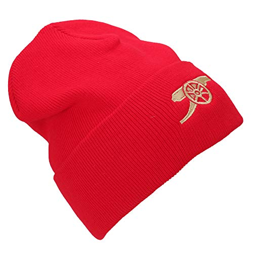 (Arsenal FC Unisex Adults Core Cannon Knitted Hat (One Size))