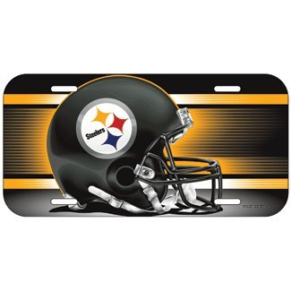 NFL Pittsburgh Steelers License Plate, Team Color, One Size (Plate License Steelers)