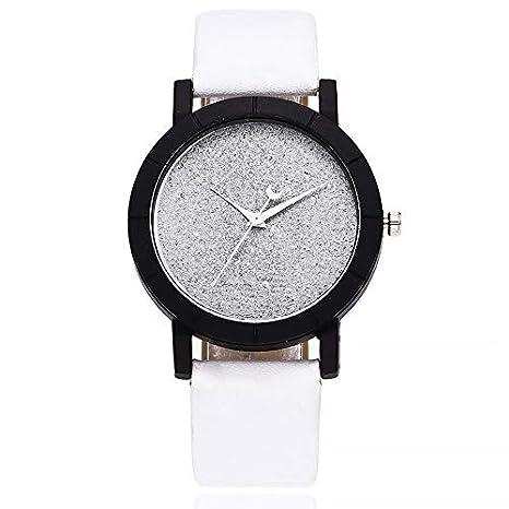 HTRHHG Cute Moon Stars Design Reloj de Pulsera analógico Mujeres Unique Romantic Starry Sky Dial Casual Moda Relojes de Cuarzo Regalo de Mujer, ...