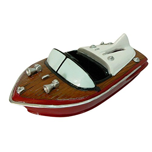 Power Boat Sculpture Money Coin Bank by TK