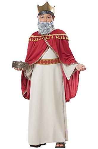Melchior, Wise Man (Three Kings) - Child Costume Red/Cream