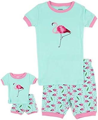 Flamingo Print  2pc Set  Fits 18 inch American Girl Dolls