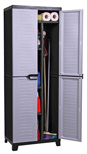 Hochwertiger Spindschrank der ELITE-Serie mit groß em Freifach und 4 verstellbaren Einlegebö den - Hohe Version RAM Quality Products Ltd.