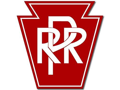 American Vinyl PRR Pennsylvania Railroad Logo Sticker (Train rr - Logo Railroad