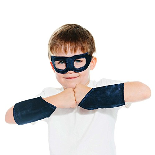 Navy Blue Superhero Eye Mask & Powerbands - (Old Navy Superman Costume)