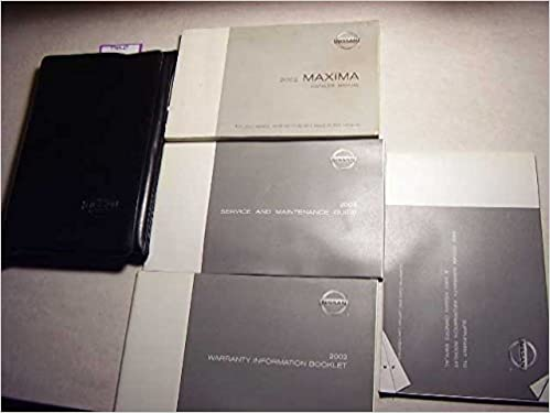 2002 nissan maxima owners manual nissan amazon books fandeluxe