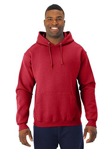 Jerzees 8 oz. NuBlend 50/50 Pullover Hood, True Red - Large (Red Hoodie)