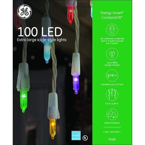 Ge Led Constant On Icicle Lights in US - 3