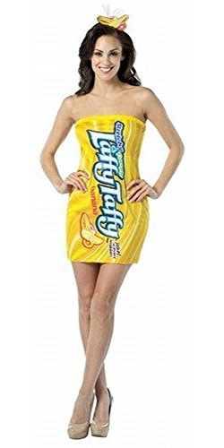 Rasta Imposta Nestle Laffy Taffy Tube Dress Banana (Size: Standard (Banana Laffy Taffy Adult Costumes)