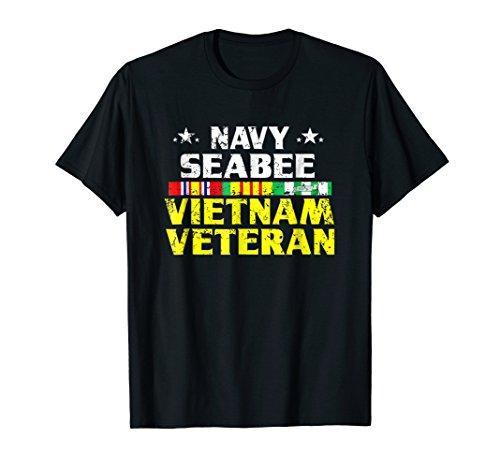 Vietnam Navy Seabees (Proud Navy Seabee Vietnam Veteran T shirt)