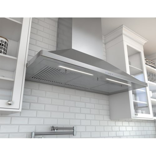 Zephyr ZSP-E48B 1200 CFM 48 Inch Wide Wall Mounted Range Hood from the Siena Pro, Stainless Steel (Wide 12' Duct Covers)