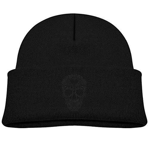 Laki-co Skull Black & White Kid Knitted Beanies Hat Boys Girls Winter Hat Knitted Skull Cap -