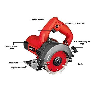 iBELLMC25-84 Marble Cutter, 1300 Watts, 13000 RPM, 125 mm 6