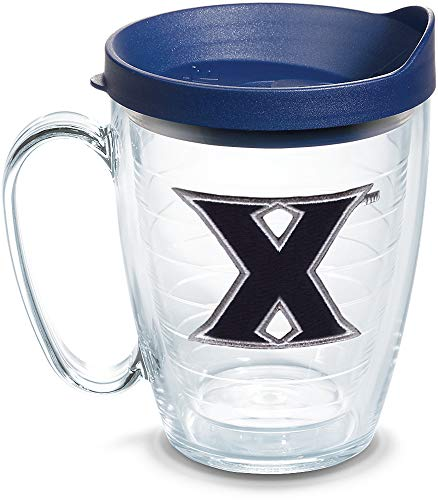 Tervis 1125327 Xavier Musketeers Logo Tumbler with Emblem and Navy Lid 16oz Mug, Clear]()