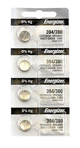 (4 Pcs Energizer 394-380TS BUTTON CELL BATTERIES 394 OX)