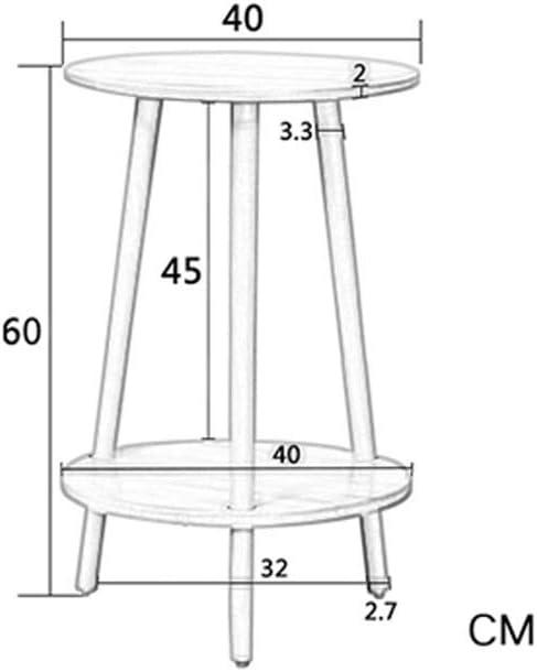 Hoge Kwaliteit Eigentijdse Koffietafel Phone Table 2nd Floor Klein Coffee Rack For Thuiskantoor Ronde Koffietafel 4.11 (Color : Brown) Wood color 1Mw3jHK