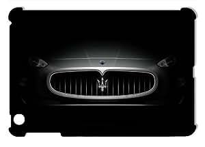 Silver Maserati Car on Black Hard Protective 3D iPad Mini Case by eeMuse