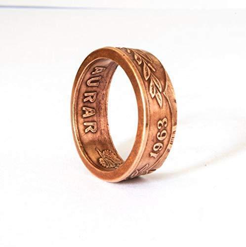 Coinring Münzring Versprechen Ring Island Aurar Münze Ring