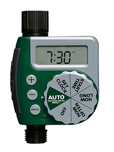Orbit 62061Z 1-Outlet Programmable Hose Faucet Timer, Green (Renewed)