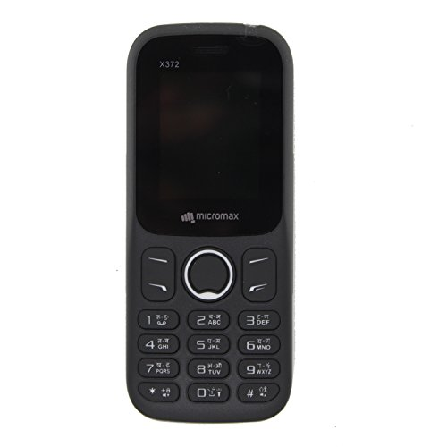 Micromax X372 Dual Sim Basic Mobile Phone Black