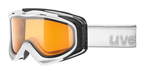 Uvex High Performance OTG German Made Laser Gold Light Universal No-Fog Lens Medium Shape Goggle, White