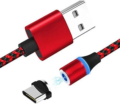 Rekkle Tipo-C TPE 360 Grados imán Cable del Cargador de 2.1A ...