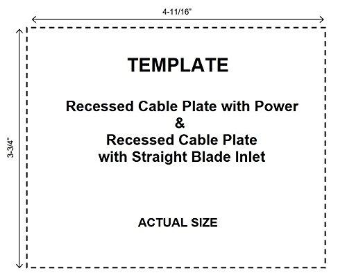 Datacomm 50-3323-WH-KIT Flat Panel TV Cable Organizer Kit with Power Solution - White by Datacomm Electronics (Image #5)
