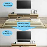 1 Pair of White Wall Bracket A1997784A A-1997-784-A for Sony HT-CT770 SA-CT770 HT-CT370 SA-CT370 Sound Bar